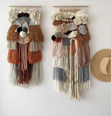 Medium woven wall hanging  30 cm wide.