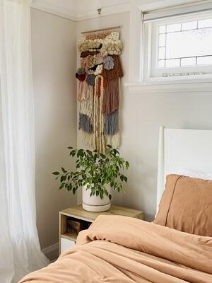 Medium woven wall hanging 35 cm wide