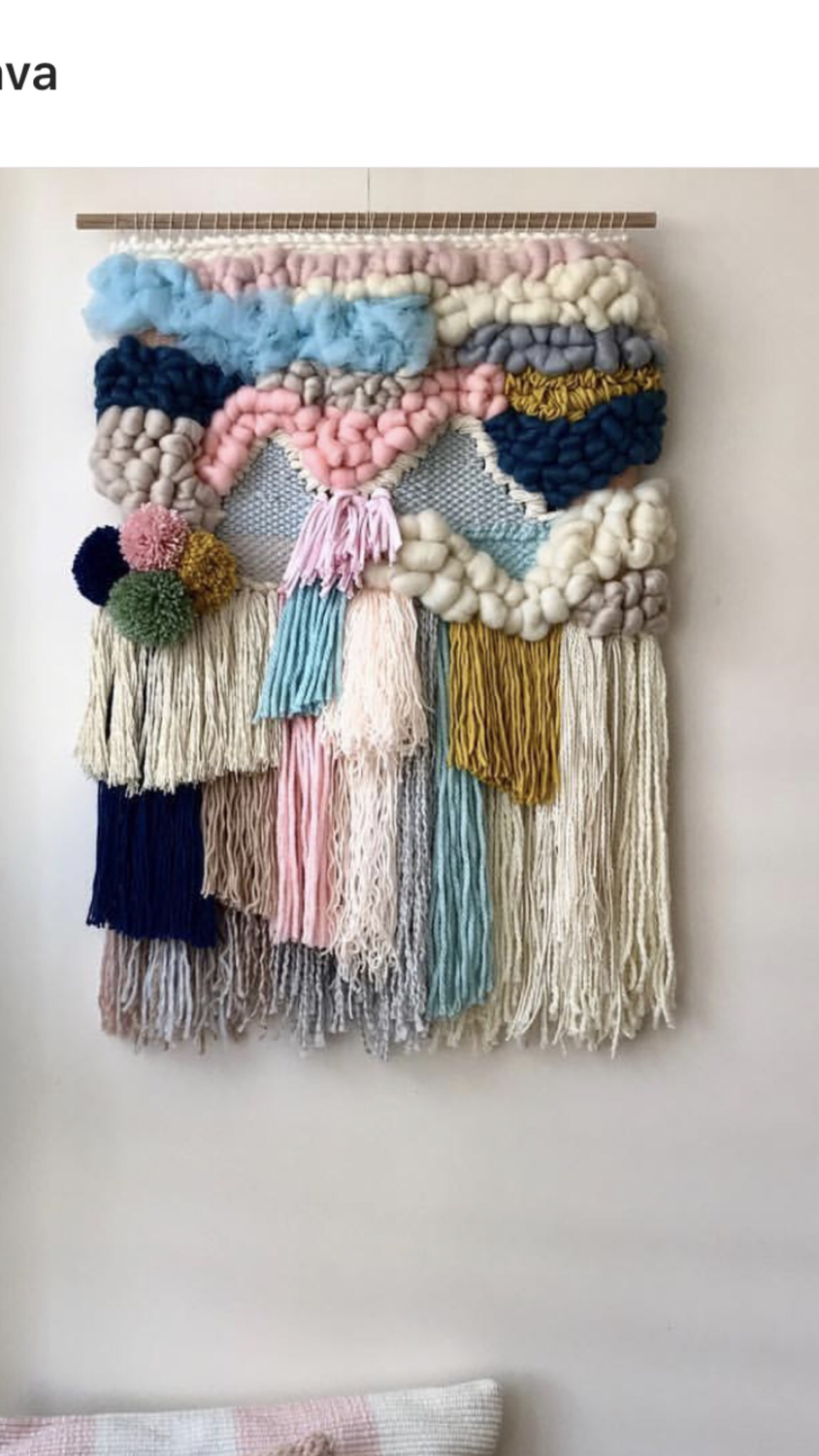 Large woven wall hangings  60 cm wide