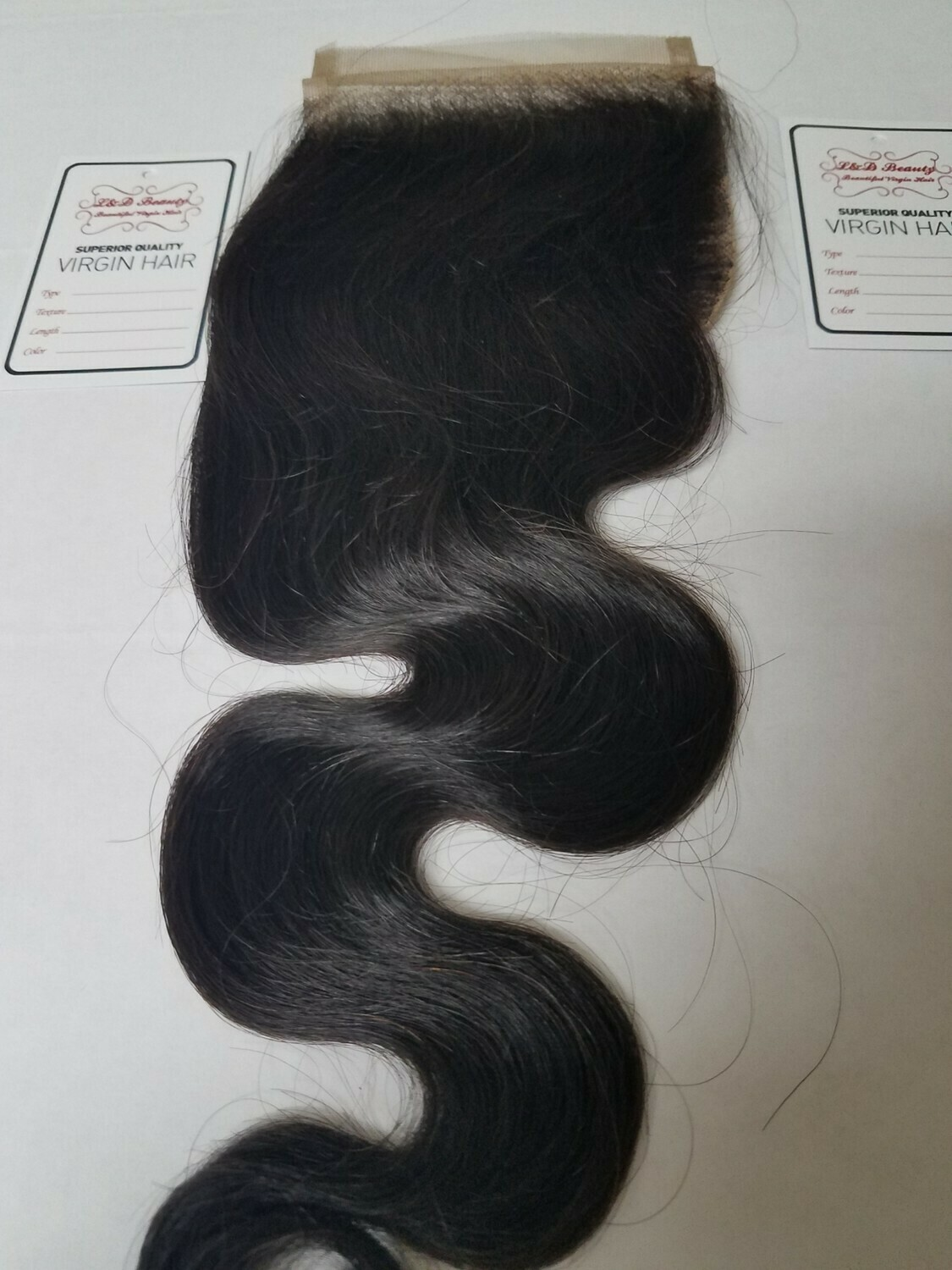 "14"" Brazilian Loose Body Wave Closure  (4x4 Free-Part)"