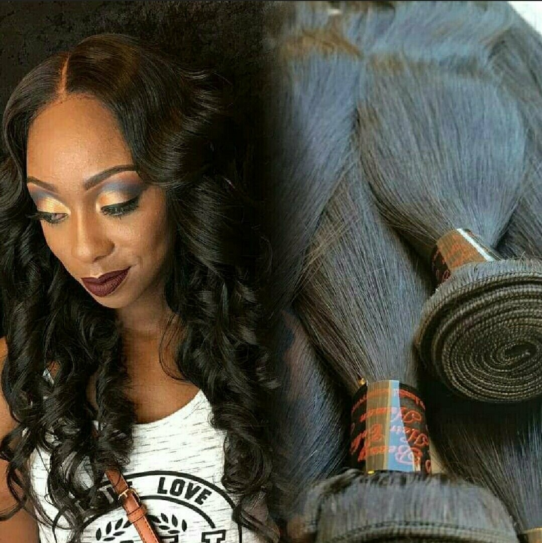 (3 Bundle) Brazilian Body Wave and Indian Straight Lace Closure Wig Units