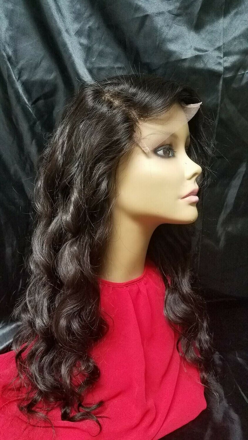 (2 Bundle )Brazilian Body Wave and Indian Straight Lace Closure Wig Units