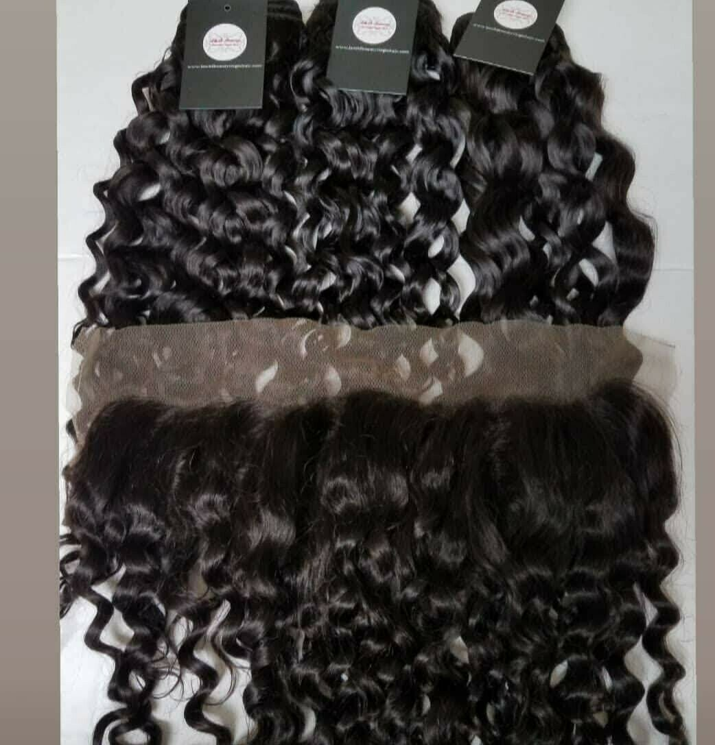"Malaysian Loose Curly 20""20"" w/14"" closure"