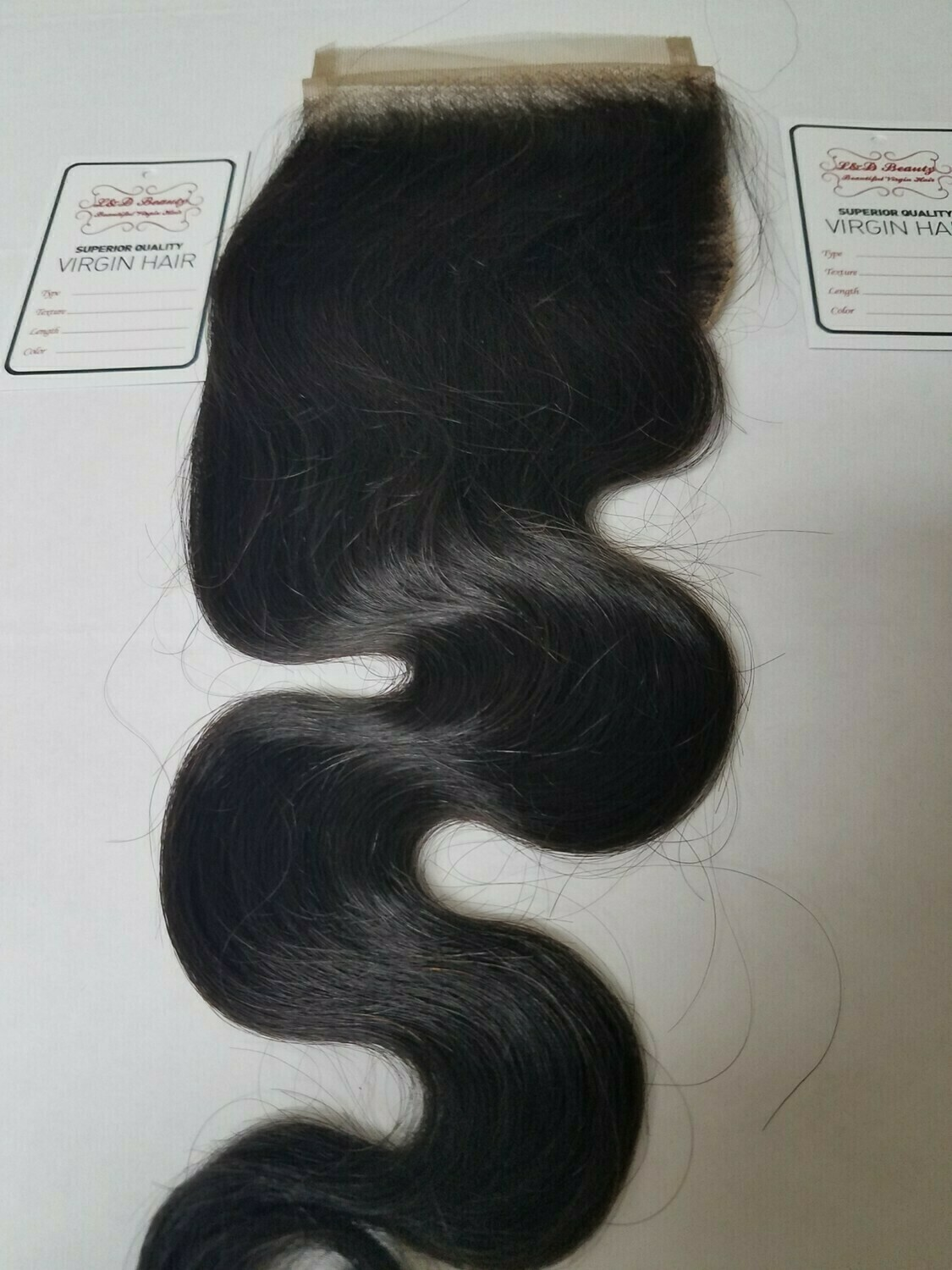 "18"" Brazilian Loose Body Wave Closure  (4x4 Free-Part)"