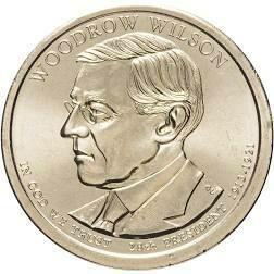 США 1 доллар 2013 г. 28-ый президент Вудро Вильсон