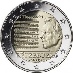 2 евро Люксембург 2013 г. Национальный гимн