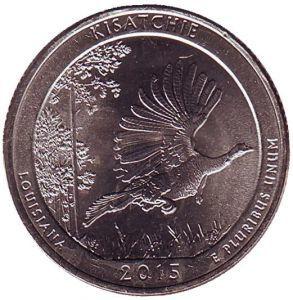 США 25 центов, 2015г. 27-й Национальный монумент Кисатчи.