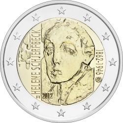 2 евро Финляндия 2012г. 150 лет со дня рождения художницы Хелены Шерфбек