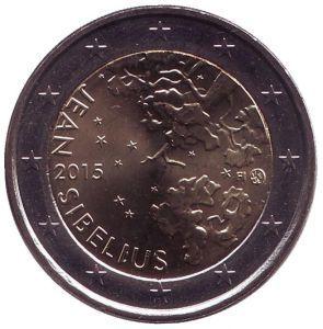 2 евро Финляндия. 2015 г. Ян Сибелиус.