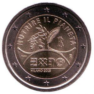 2 евро Италия. 2015 г.