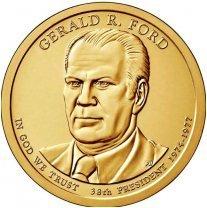 США 1 доллар, 2016 год. 38-й президент США. Джеральд Форд