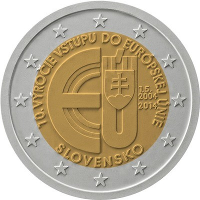 2 евро Словакия 2014 г.