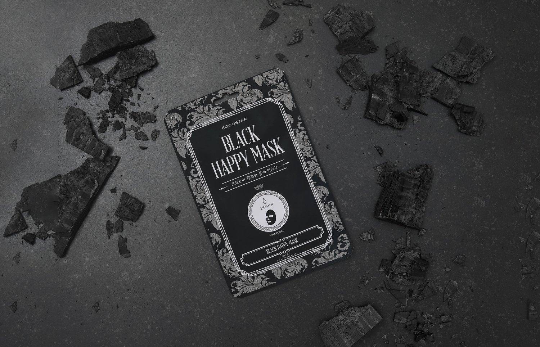 Maska BLACK HAPPY