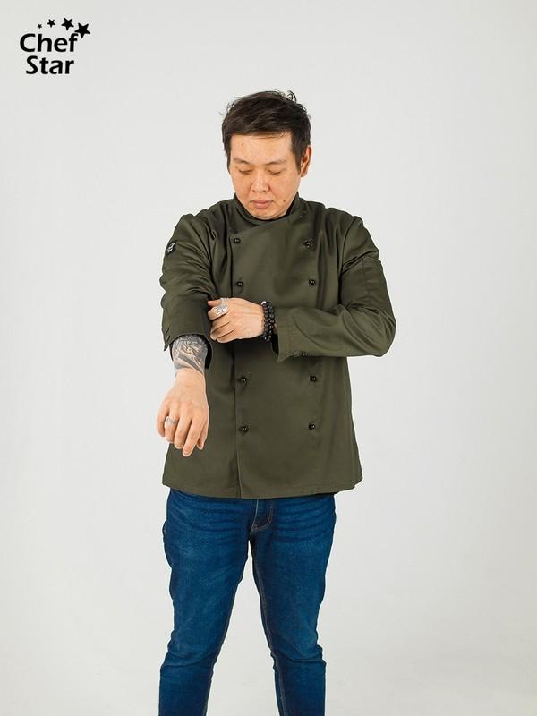 Salsa Chef Jacket, green khaki