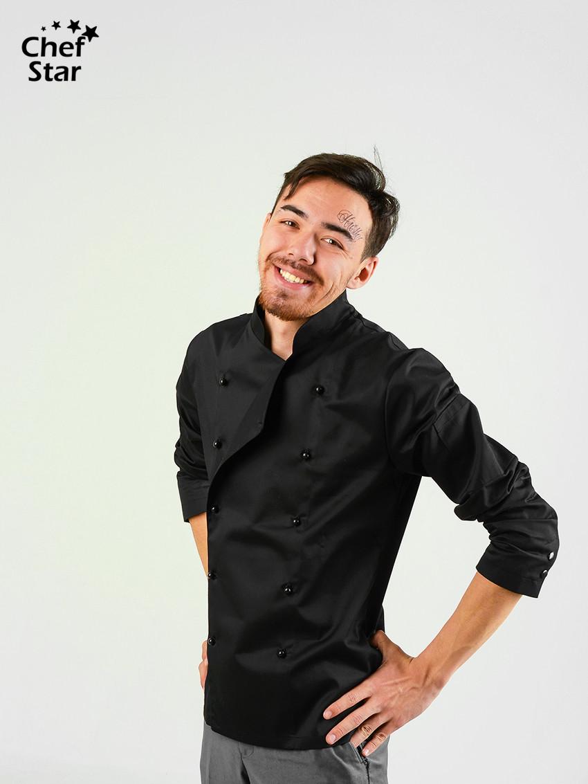 Китель Salsa (Сальса), Black, Chef Star