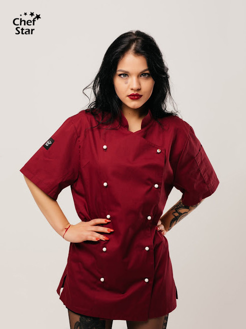 Salsa Chef Jacket, bordo