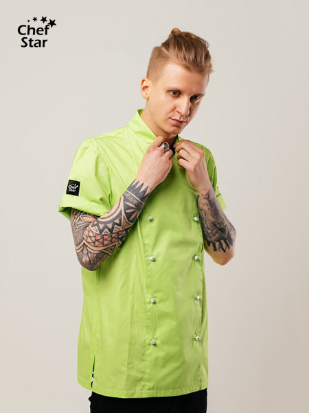Salsa Chef Jacket, lime green