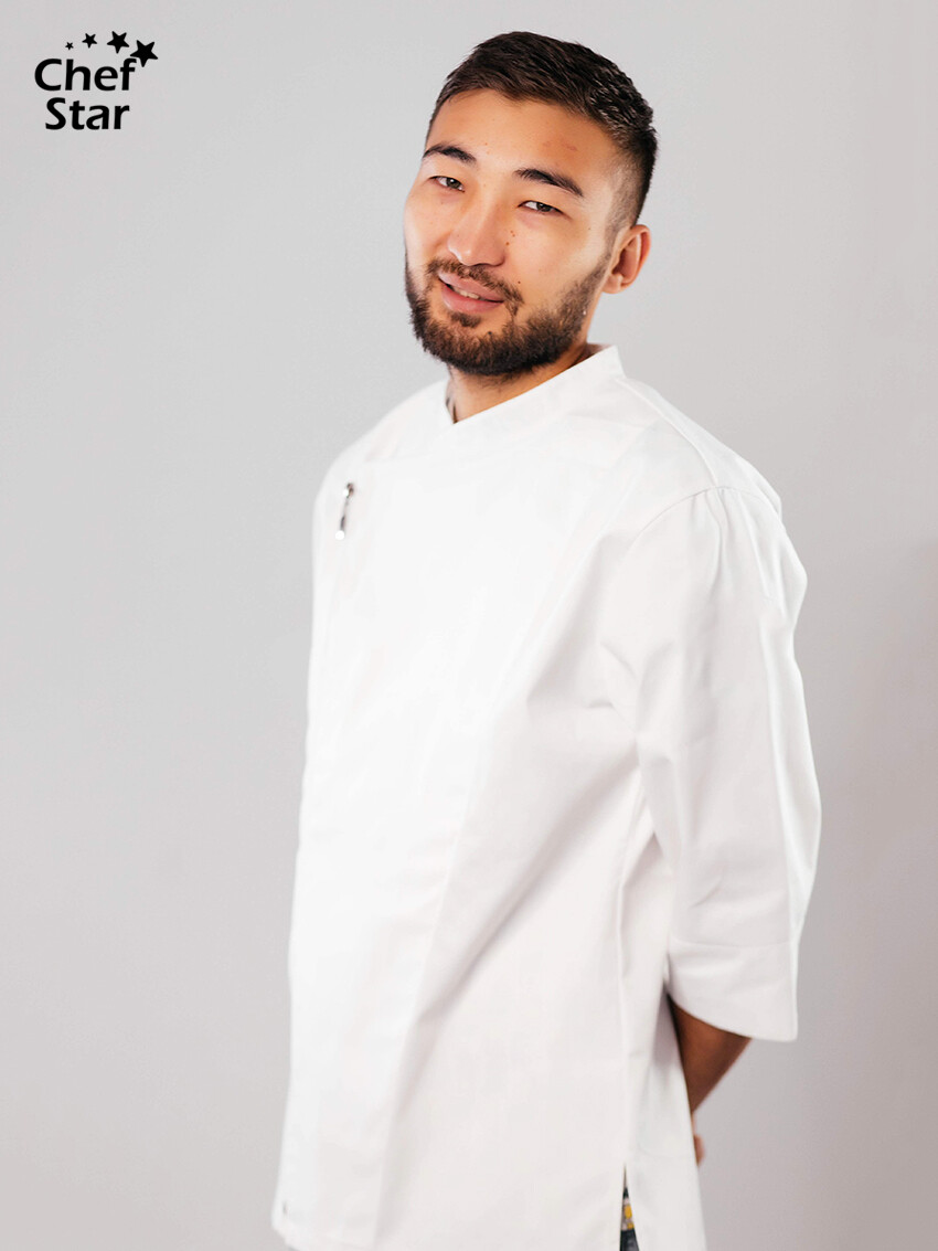 Wasabi Chef Jacket, white
