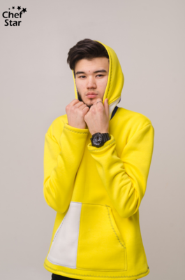 Chef Star Rainbow Hoodie, Yellow-White
