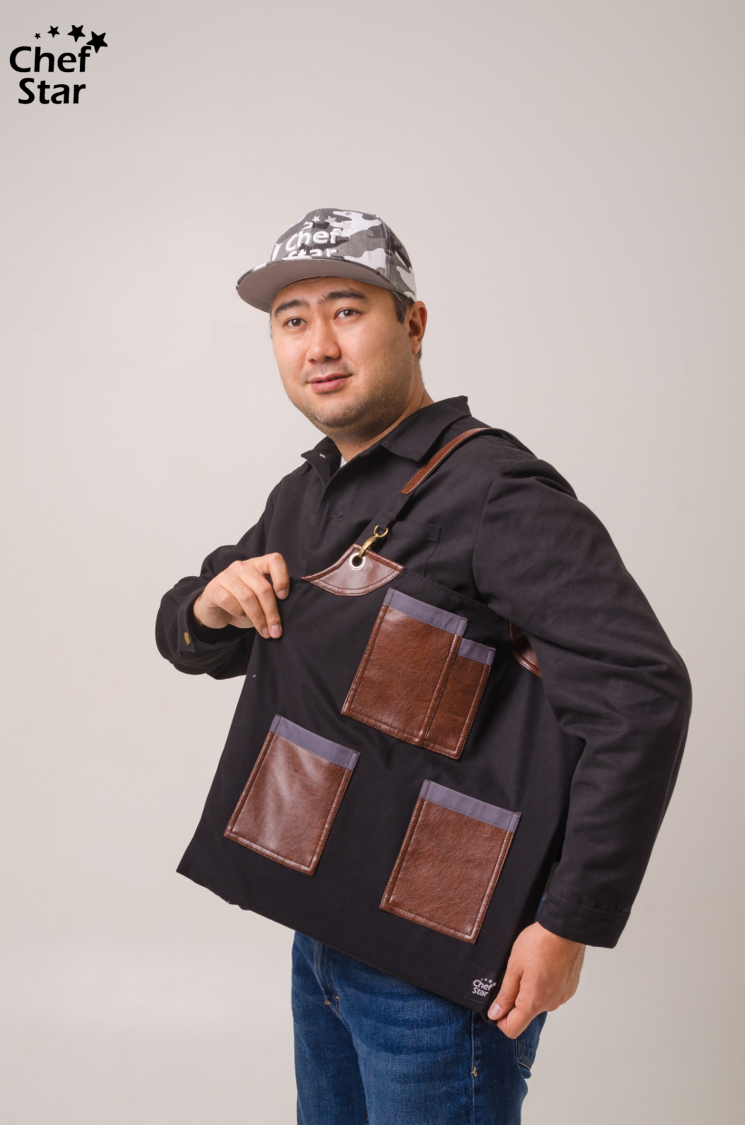 Сумка шоппер (Shopper), Black&Brown, Chef Star