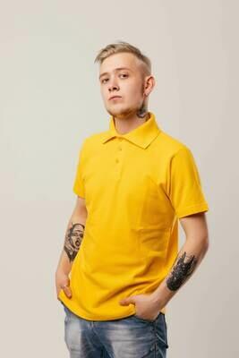 Футболка поло, желтая