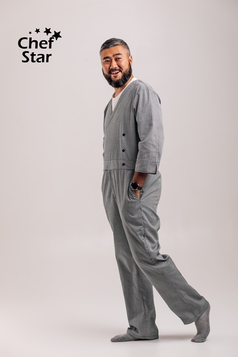 Chef Star New Jumpsuit, houndstooth pattern, NEO MOOD collection