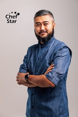 Chef Star New York Chef Jacket, blue denim, NEO MOOD collection