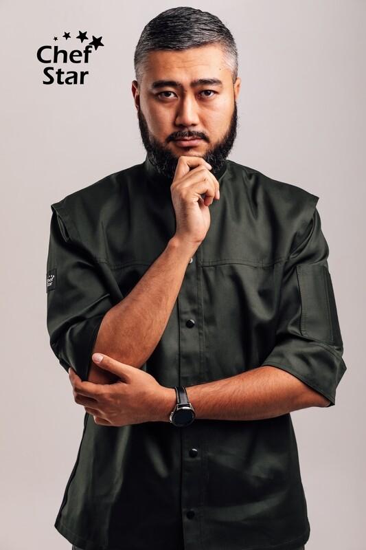 Chef Star New York Chef Jacket, green khaki, NEO MOOD collection