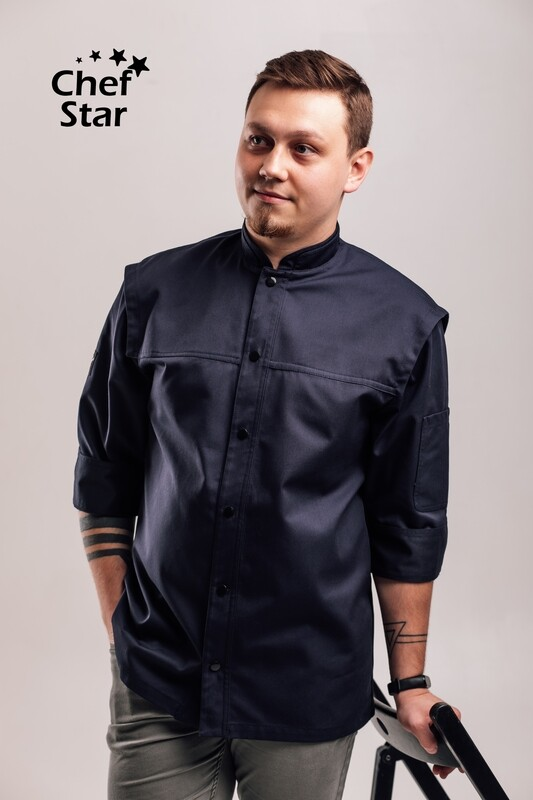 Chef Star New York Chef Jacket, navy blue, NEO MOOD collection