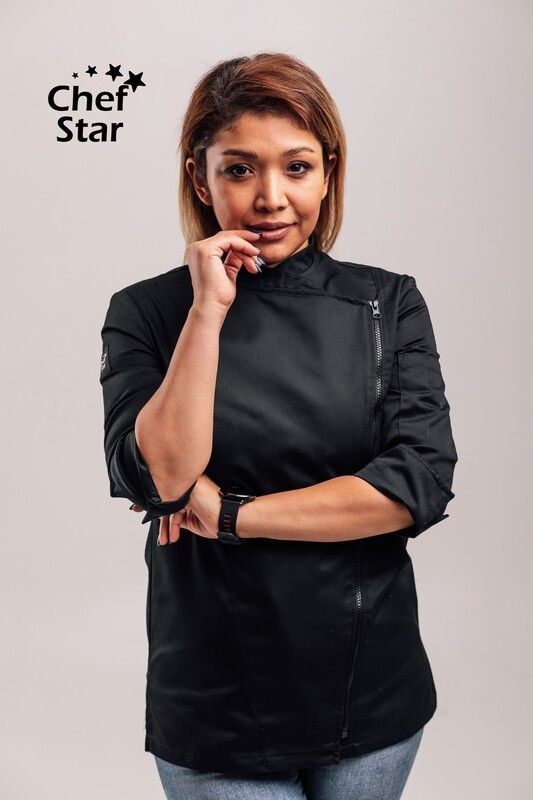 Chef Star Wasabi Jacket for women, black, NEO MOOD collection