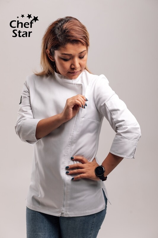Chef Star Wasabi Jacket for women, white, NEO MOOD collection