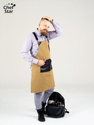 Фартук Rakia (Ракиа), Beg/Black, Chef Star