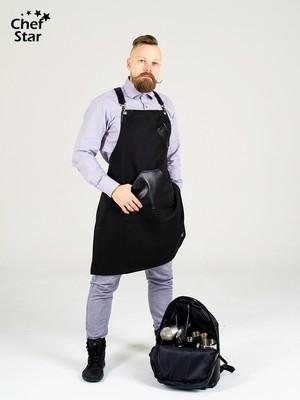 Фартук Rum (Ром), Black, Chef Star