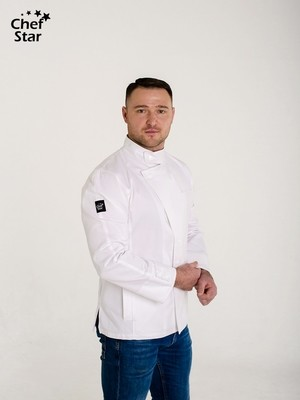 Китель Carbonara (Карбонара), White, Chef Star