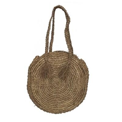 Round Seagrass Handbag