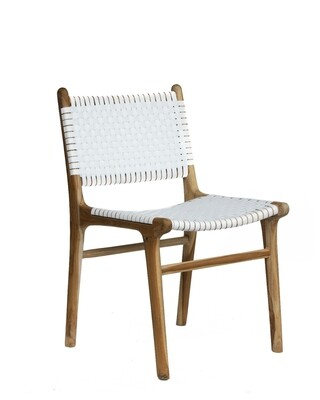 Teak and PVC Dining Chair
