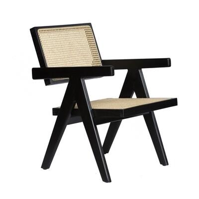 Bali Teak Chair Black Low