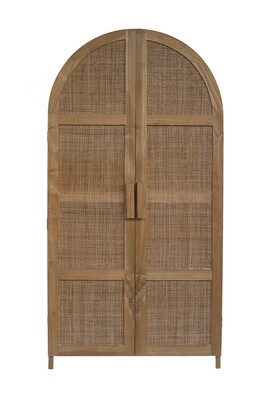 Sungkai Wood Cupboard 1 (180cm) with hanging