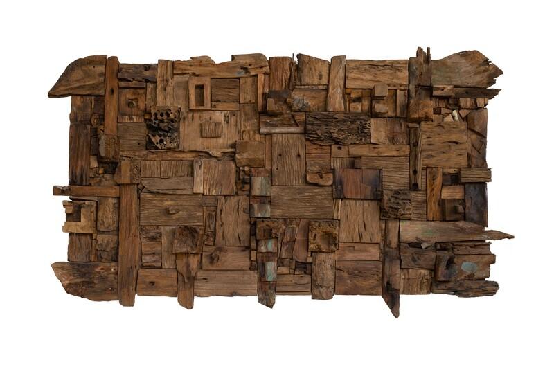 190cm Abstract Teak Antique Art