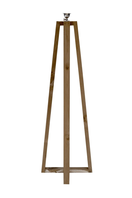 Teak Floor Lamp Stand (120cm)