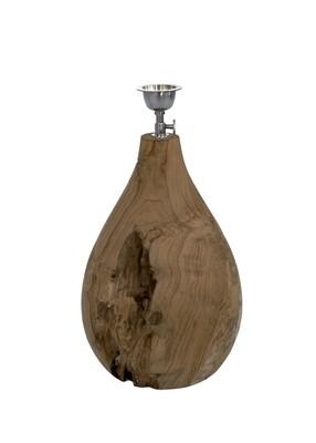 Teak Lamp Base (35cm)
