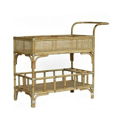 Rattan Drinks Trolley 1