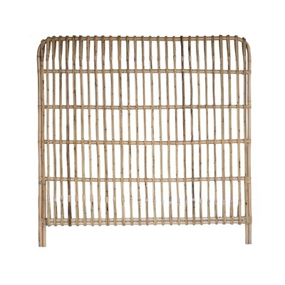 Straight Rattan Headboard Double