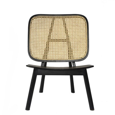 Teak Occasional Chair 4 (Black)