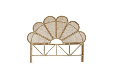 Rattan Flower Headboard King