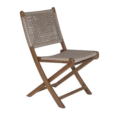 Teak and Viro Rope Dining Chair 3