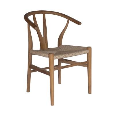 Teak and Viro Rope Dining Chair 5