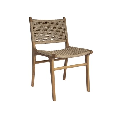 Teak and Viro Rope Dining Chair 2