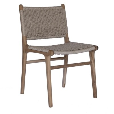 Teak and Viro Rope Dining Chair 1