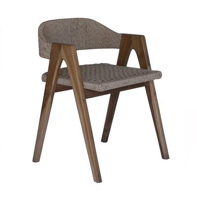 Teak and Viro Rope Dining Chair 6